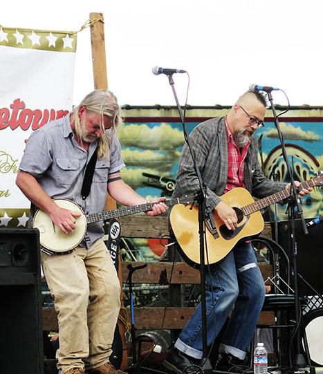 South Sound Tug & Barge live at the Georgetown Carnival Festival, summer 2016.  (l. to r. Steve Duda, Scott M.X. Turner)